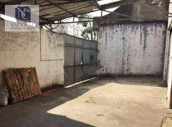 Galpão Para Alugar, 450 M² Por R$ 10.000/mês - Jardim Santo Antônio - Santo André/sp - Ga0630