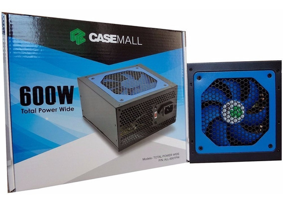 Fonte Casemall 600w Total Power Wide All-600tpw Envio Rapido