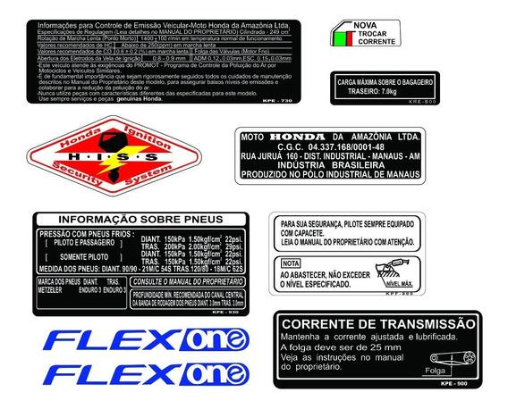 Honda Xre 300 - Adesivos De Advertência - Frete Grátis