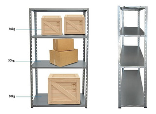 Repisa Estanteria Rack Metalico Mekano150x74x30cm Impotec