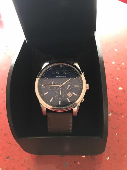 Relógio Armani Ax2501 Couro Marrom
