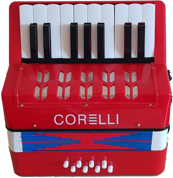Corelli Whc104 Acordeón Niños Tipo Piano 17 Teclas 8 Bajos