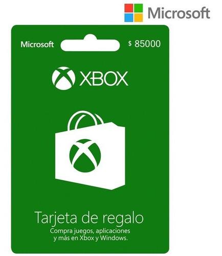 Tarjeta Regalo Xbox $85.000 Región Colombia