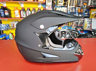 Casco Cross Negro Mate