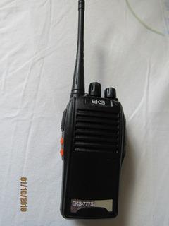 Rádio De Comunicação Ht Uhf 16 Canais Antena 12km 777s