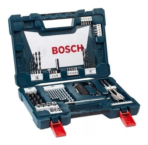 Set Kit Juego Bosch V Line 68 Piezas Puntas Mechas Tubos Pr