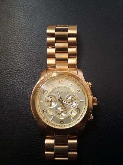 Relógio Michael Kors Dourado Modelo Mk8077