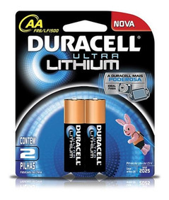 Pilha Aa Pequena Ultra Lithium 2 Duracell 1.5v Câmeras Games