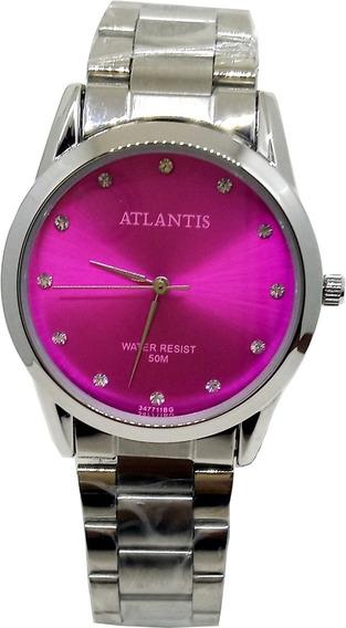 Relógio Feminino Atlantis Rosa Choque