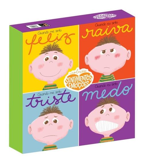Livro Infantil Box Sentimentos E Emoções Com Boneco Ednelson