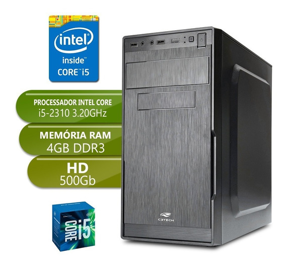 Computador I5 2310 Ddr3 4gb Hd 500gb Desktop Pc Cpu
