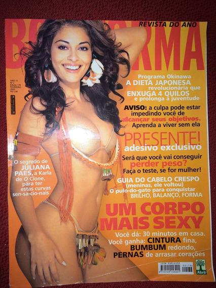 Revista Boa Forma Juliana Paes Musa Da Tv Gata Fantástica