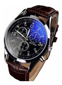 Relógio Unissex Luxo Couro Pulseira Preta Strass Quartz