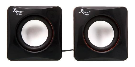 Mini Caixas De Som Estéreo Knup Kp-600