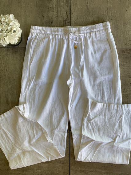 Pantalon De Lino Tallas Extras Caki Blanco Y Negro