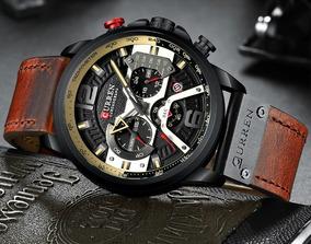 Relógio Curren Top Luxo Cronógrafo De Quartzo Homem Relógio