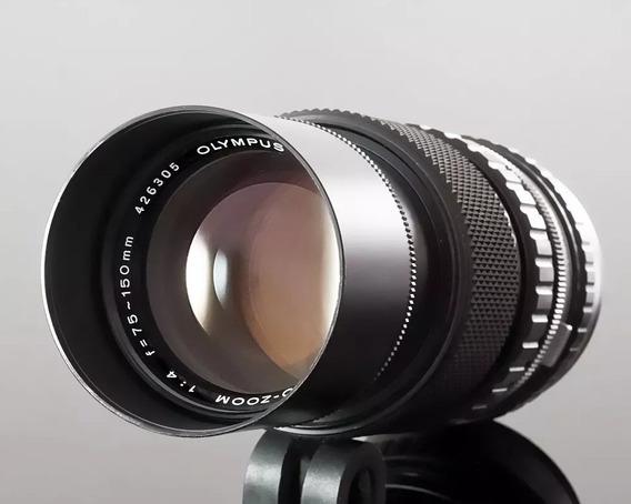 Lente Zuiko Olympus Om Zoom 75-150 F4.0 + Teleconverter 2x