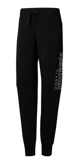 Pantalon Reebok Classics Graphic Neg De Mujer