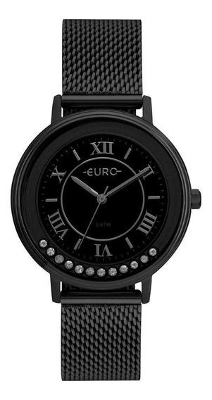 Relógio Euro Crystal Move Feminino Preto Eu2035yry/4p