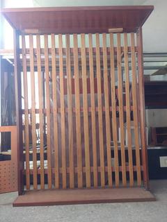 Cama 1.40x2m Reforzada Caoba Y Cedro Lustrado Muy Fuerte