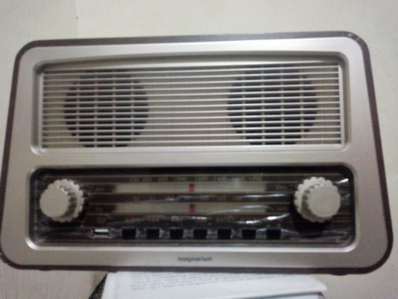 radio Amplificador Retro Imaginarium 220v Am/fm Entrada Usb