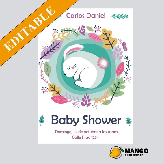 Tarjeta Imprimible Invitación Baby Shower Ropita De Bebe