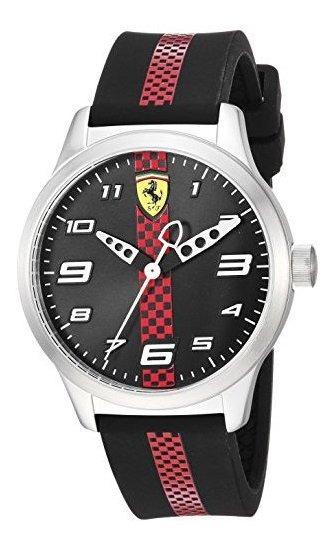 Ferrari Pitlane 860002 - Reloj Casual De Cuarzo De Acero Ino