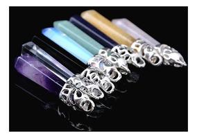 Colar Unisex Pingente Pêndulo Cristal Diversos Tipos