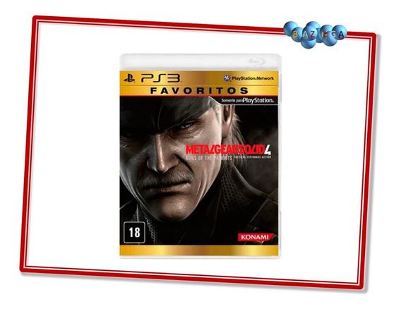 Metal Gear Solid 4 Midia Fisica Ps3 Novo Favoritos