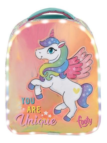 Mochila Unicornio You Are Unique Con Luz Led 14