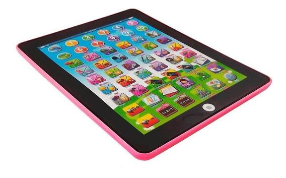 Tablet Infantil Interativo Bilingue Rosa Para Meninas