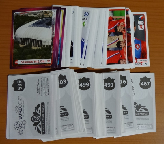 10 Estampas Album Eurocopa Polonia Ucrania 2012 Panini