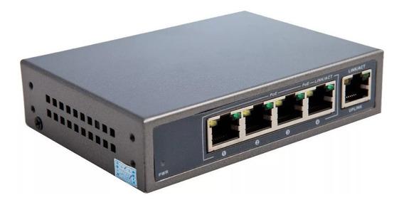 Switch Poe Cygnus Cctv Ip 4 Puerto Ethernet Poe+ 1 Uplink