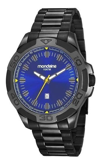 Relógio Masculino Mondaine 83413gpmvps2 Em Aço Preto