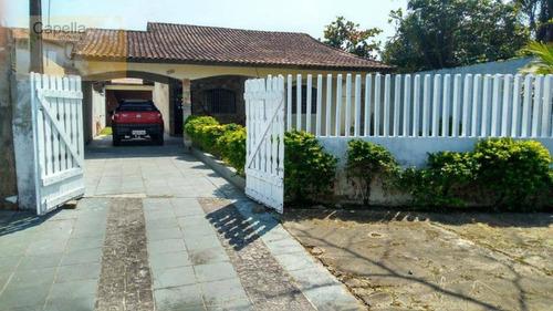 Casa Com 3 Dormitórios A 300mts Da Praia Itanhaém - 325mts