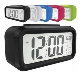 Reloj Despertador Luz Snooze Light Temperatura Calendario Ya!! *** Ilumina-2 *** Mercadolider Platinum Importadores!