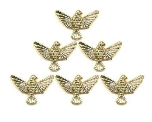 6 Divino Espirito Santo Pin Boton Broche Dourado 6 Botons