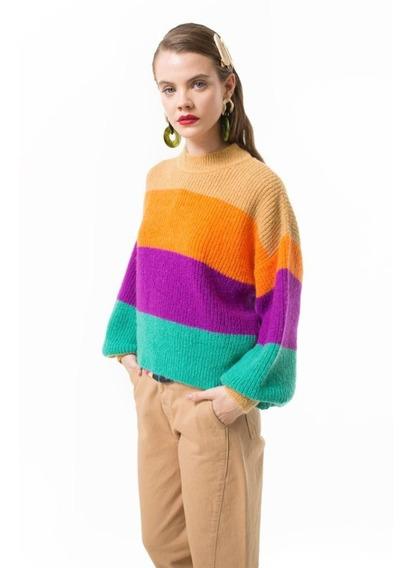 Sweater Las Pepas Walsen Lima Naranja Orquidea Azul Ama I20