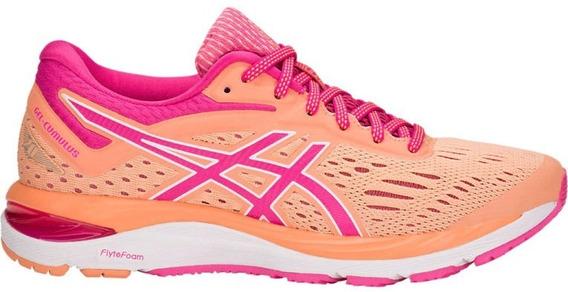 Zapatillas Asics Gel Cumulus 20 Ocre/fucsia Mujer Running