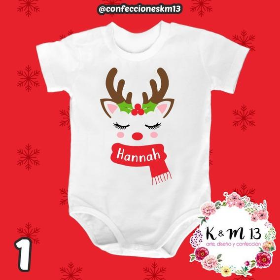 Bodys Bebes Personalizados En Algodón Linea Navidad