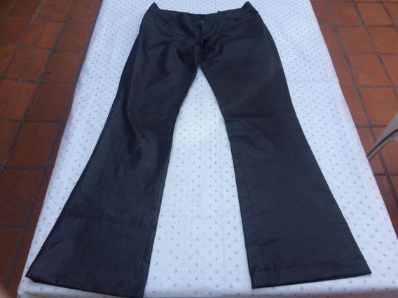 Pantalon Brilloso Rimmel Mujer Negro Oxford Elastizado T 40