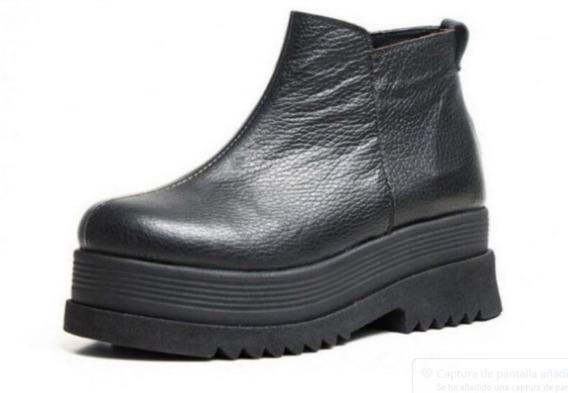 Borcegos Plataforma Mujer Botas Botineta Zapato Laly 2050