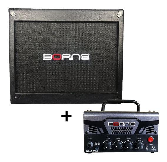 Caixa Borne Mob110 + Amplificador T30