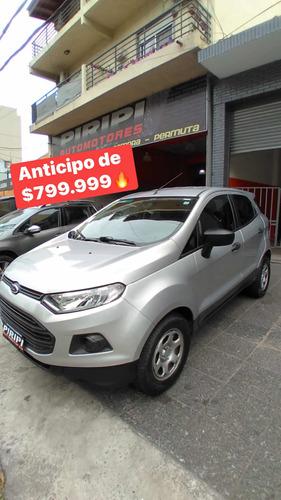 Ford Ecosport 1.6 S 110cv 4x2 2015, Anticipo De $799.999
