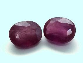 Pedra Preciosa Rubi Natural, 8,5x7, 6,2cts Par