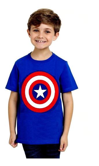 Kit 05 Camisetas Infantil Super Heróis Personagens Atacado