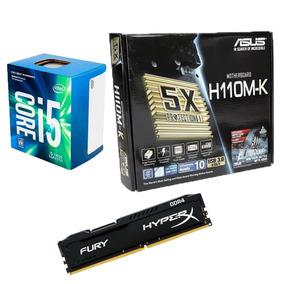 Kit Mb Asus H110m-k + Proc. I5 7400 + Memoria 8gb - Na Caixa