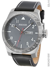 Relógio Magnum Masculino Analógico Cinza Ma34316w Magnum