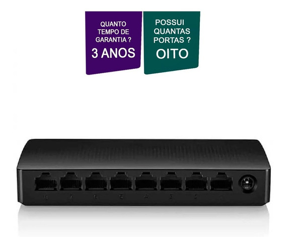 Switch 8 Portas Gigabit 10/100/1000 Vlan Multilaser