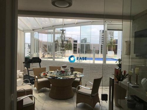 Belíssima Cobertura À Venda, 440 M² Por R$ 8.000.000 - Indianópolis - São Paulo/são Paulo - Co0402